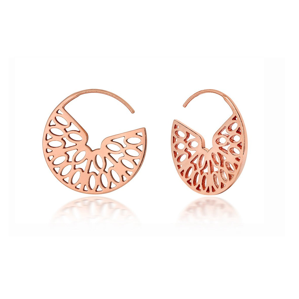 rose gold hoop earrings design based on an orange