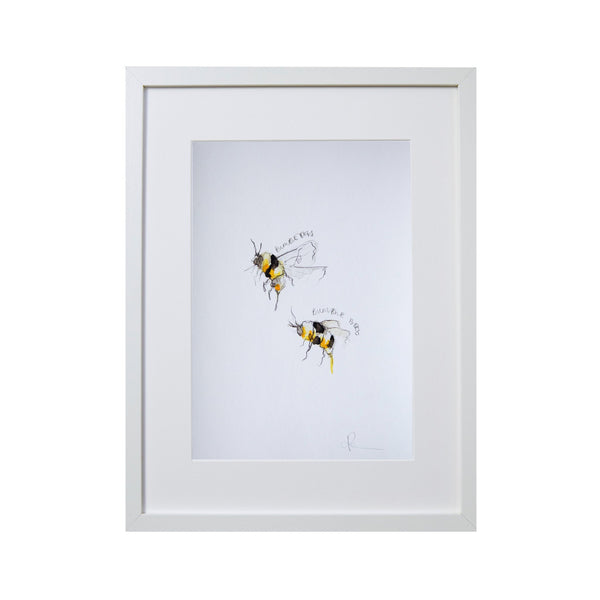 two bumble bees screen print
