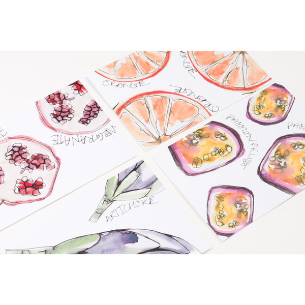 Fruity Postcards (Pack Of 8)