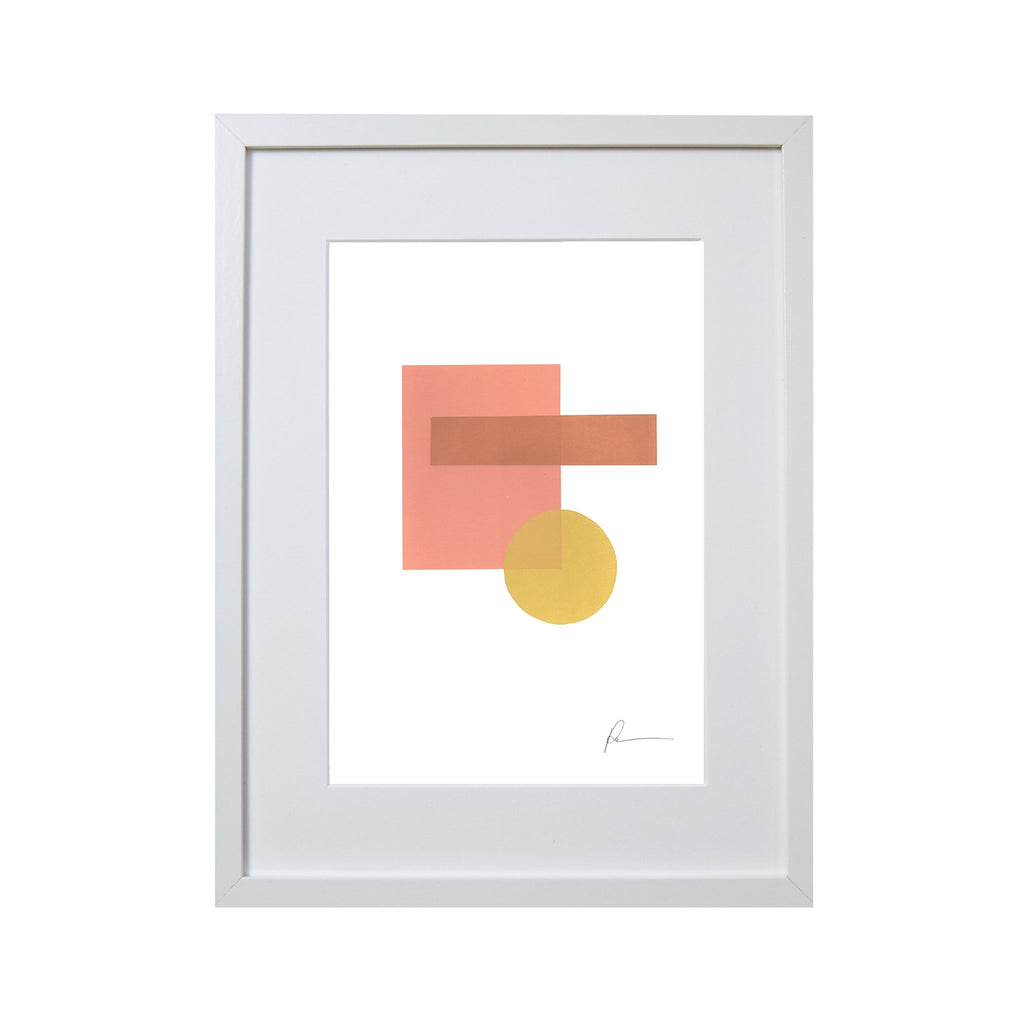 original screen print of shapes creating a picture