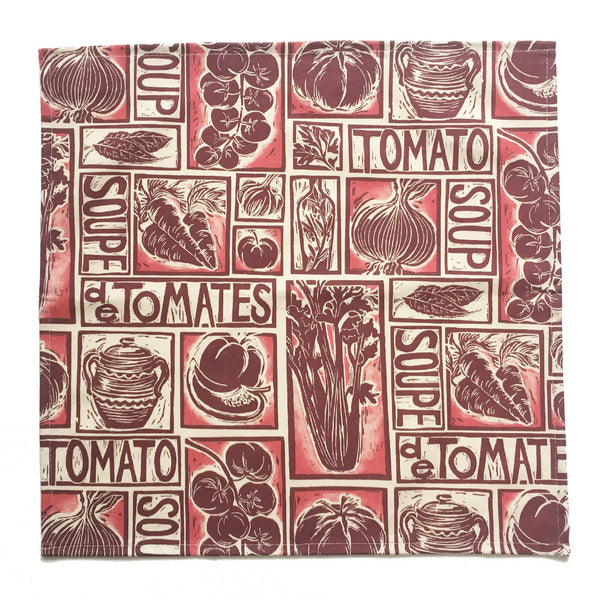 Set of 4 Recipe Print Napkins - Roasted Tomato Soup