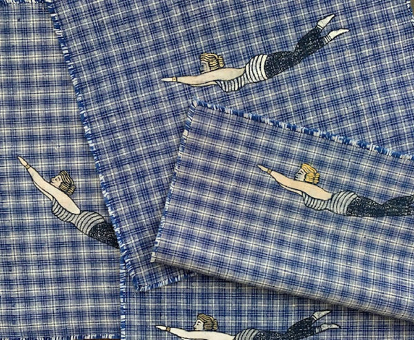 Swimmer Napkins With String Napkin Rings (Pack Of 4)