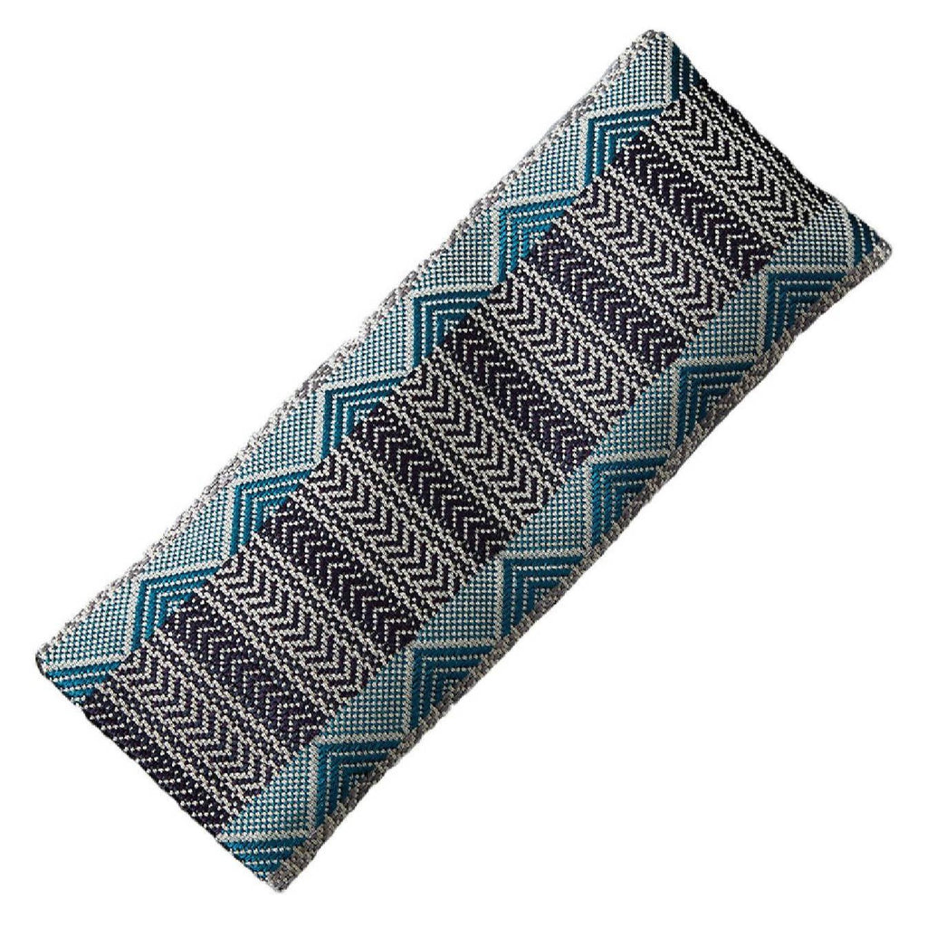 Luxury Silk Eye Pillow Silver Teal