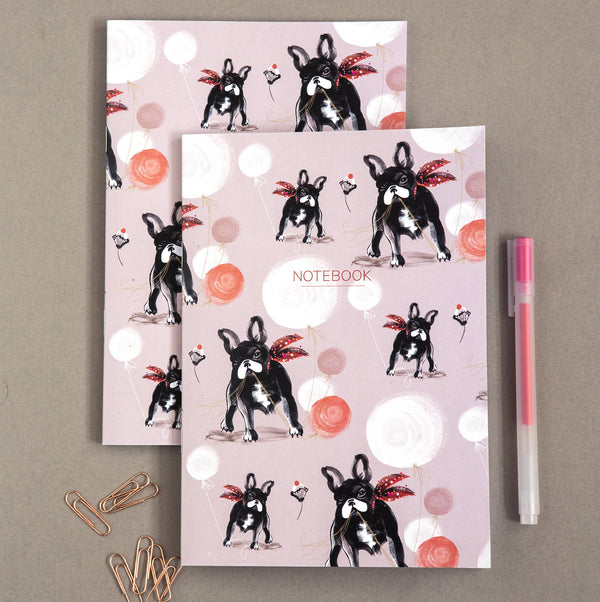The French Bulldog|Dashing Dogs Collection A5 Notebooks (Set of 2)