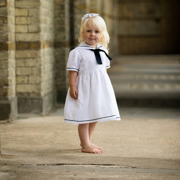 sailor dress christening flowergirl vintage