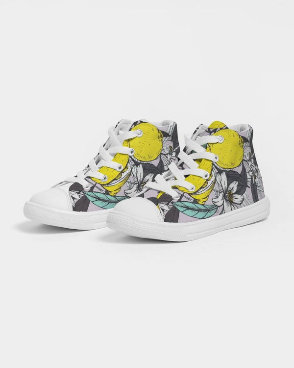 Jellyjaws. Citrus - Kids Unisex Hightop Sneakers