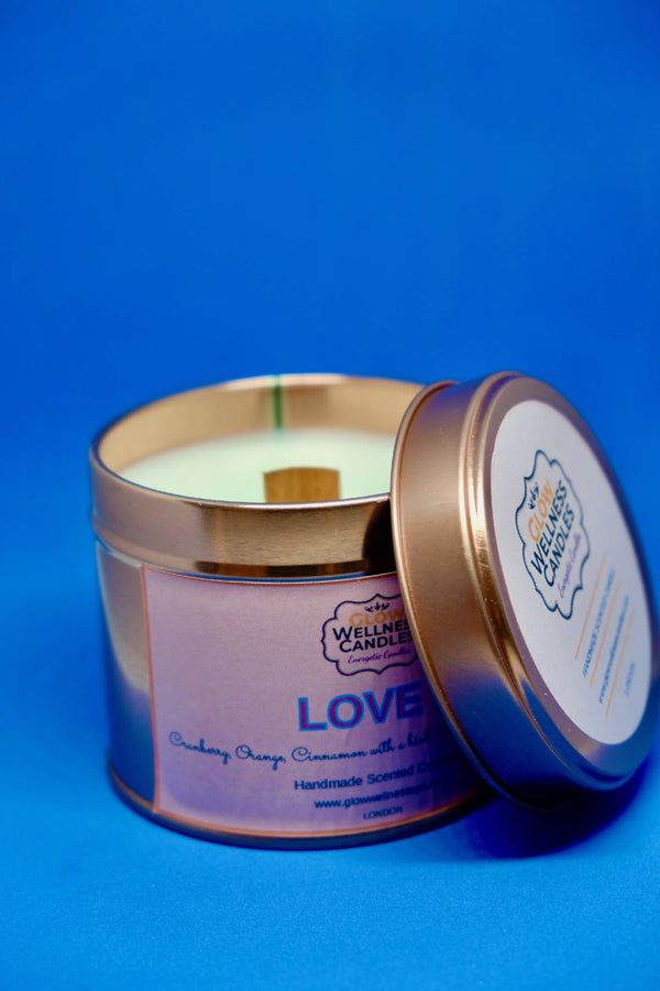 Love Scented Candle Travel Tin 25cl
