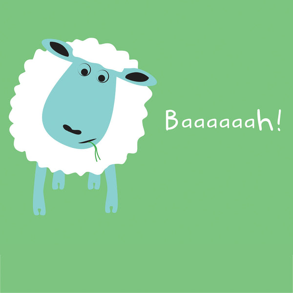 a white sheep on a green background