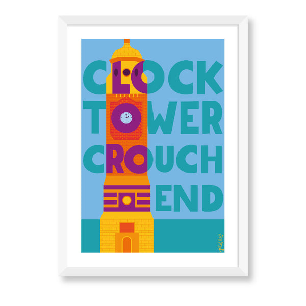 Crouch End Clock Tower Print