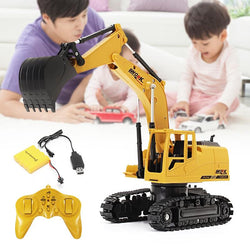 RC Excavator Toys with Musical Children's Boys RC Truck Beach Toy