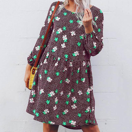 Women's Plus Size Casual Printed Dresses