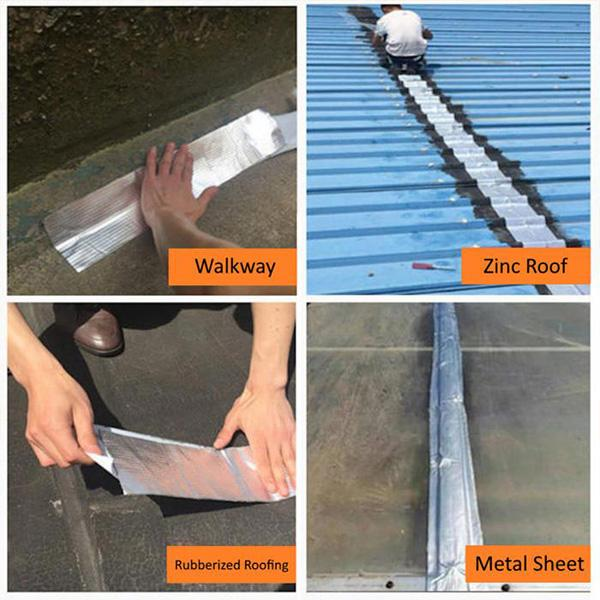 Butyl Repair Pipe Home Self-Adhesive Foil Rubber Tape Roof Aluminum Waterproof