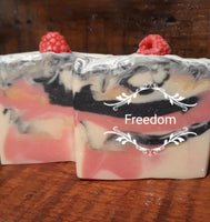 Black Raspberry Vanilla Goat Milk Soap- Freedom