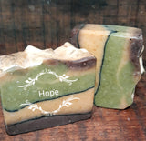 Spearmint,Lemon,Vanilla Goat Milk Soap -Hope