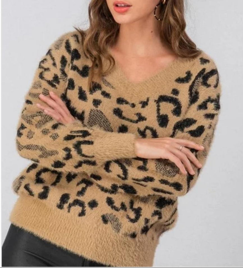 Gia Leopard Sweater