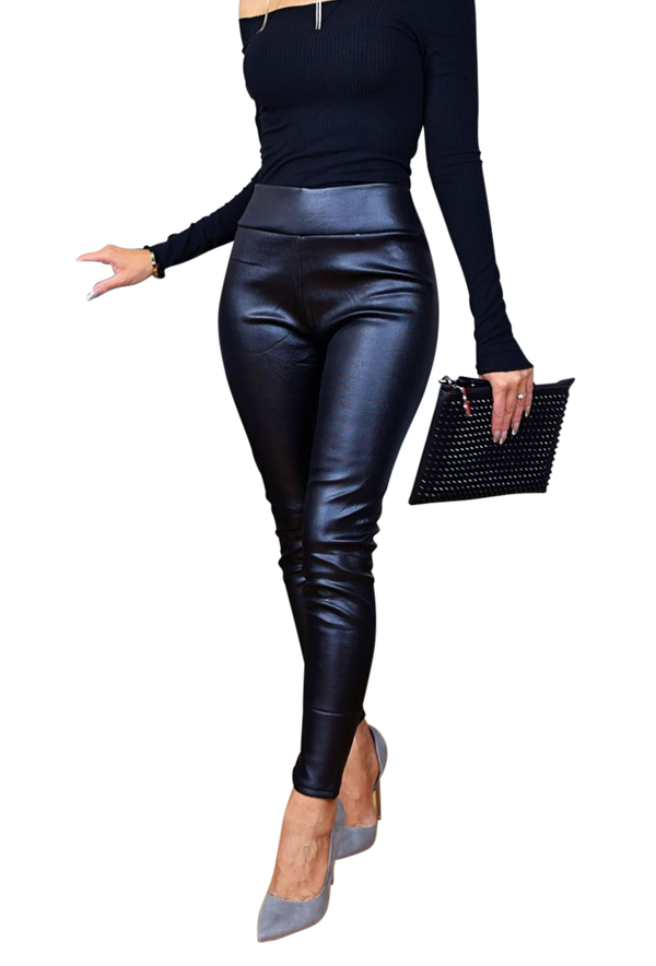 Faux Leather Pants By SAM D'MONES