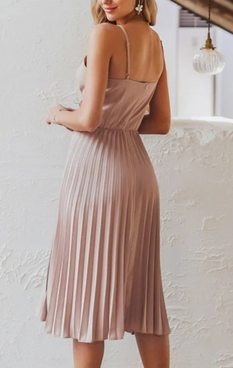 Blush Pleated Dress