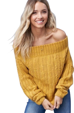 Maxine Off The Shoulder Knit Sweater