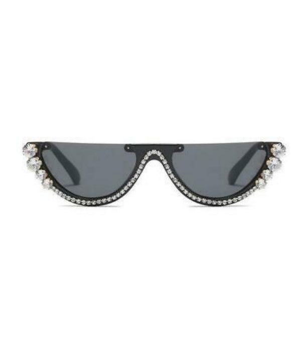 Crystal Rhinestone Cat Eye Sunglasses