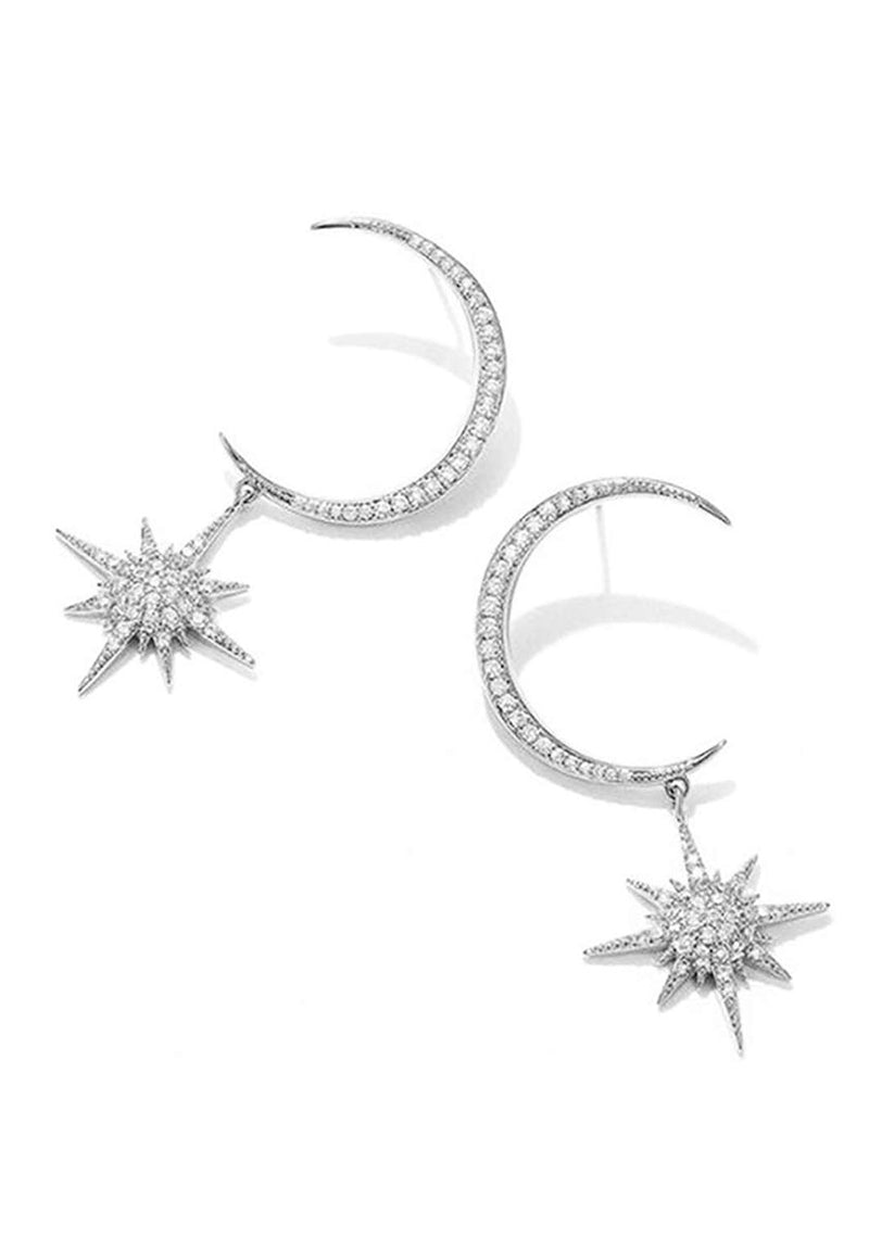 The Moon And Stars Earrings