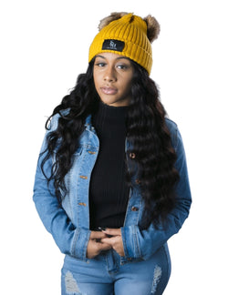 Pom Beanie Hat By SAM D'MONES