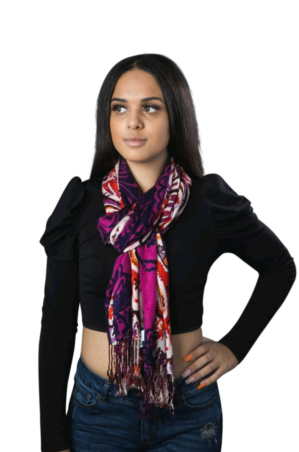 The Luxe Multi-Color Scarf By SAM D'MONES