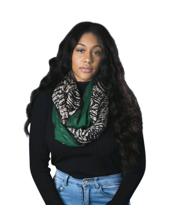 Leopard Print Infinity Scarf By SAM D'MONES