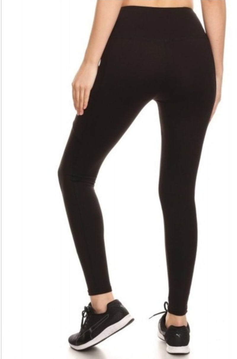 Fleece Lined Yoga Leggings with pockets