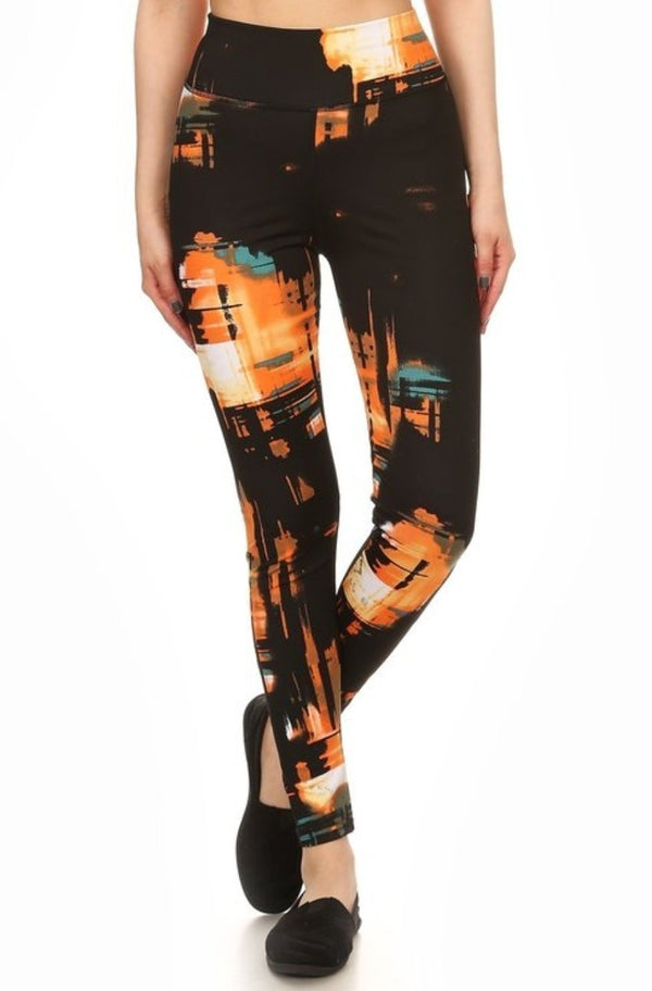 Abstract Contouring Workout Leggings