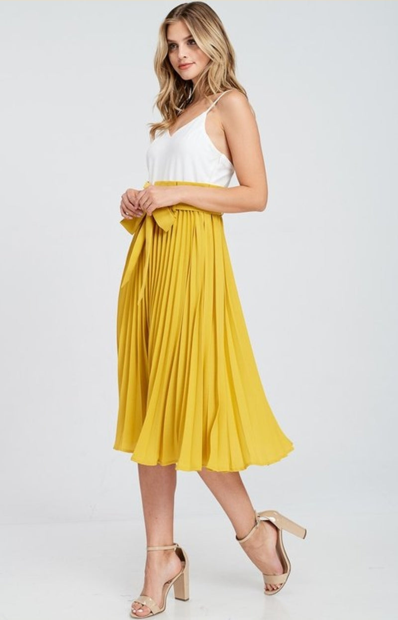 Vintage Pleated Dress By SAM D'MONES