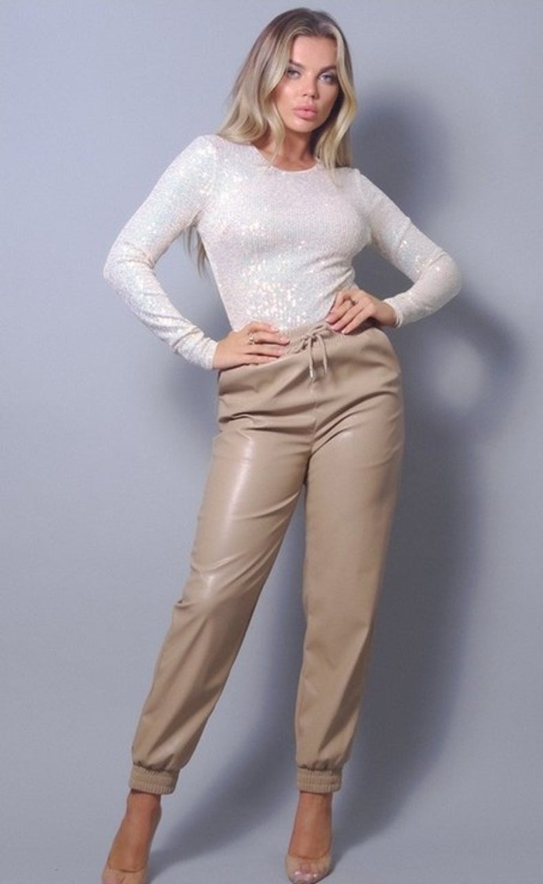 Bella Sequin Long Sleeve Bodysuit