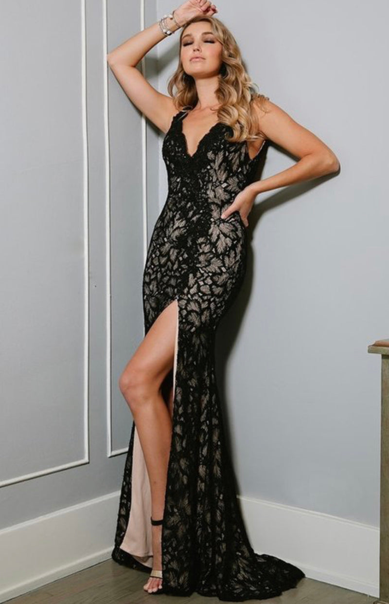 Nina Montgomery Lace and Sequin Gown