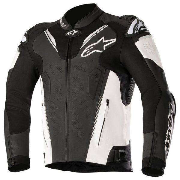 Alpinestars Atem v3 Leather Jacket Black & White