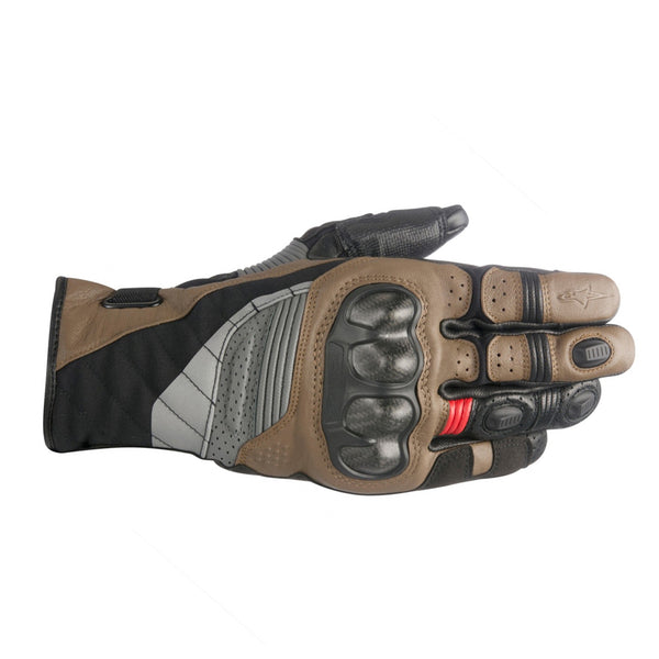 Alpinestars Belize Drystar Gloves Black Tabacco Brown & Red