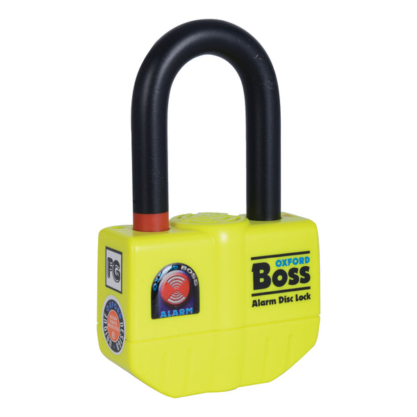 Oxford Boss Alarm disc lock- 14mm Yellow