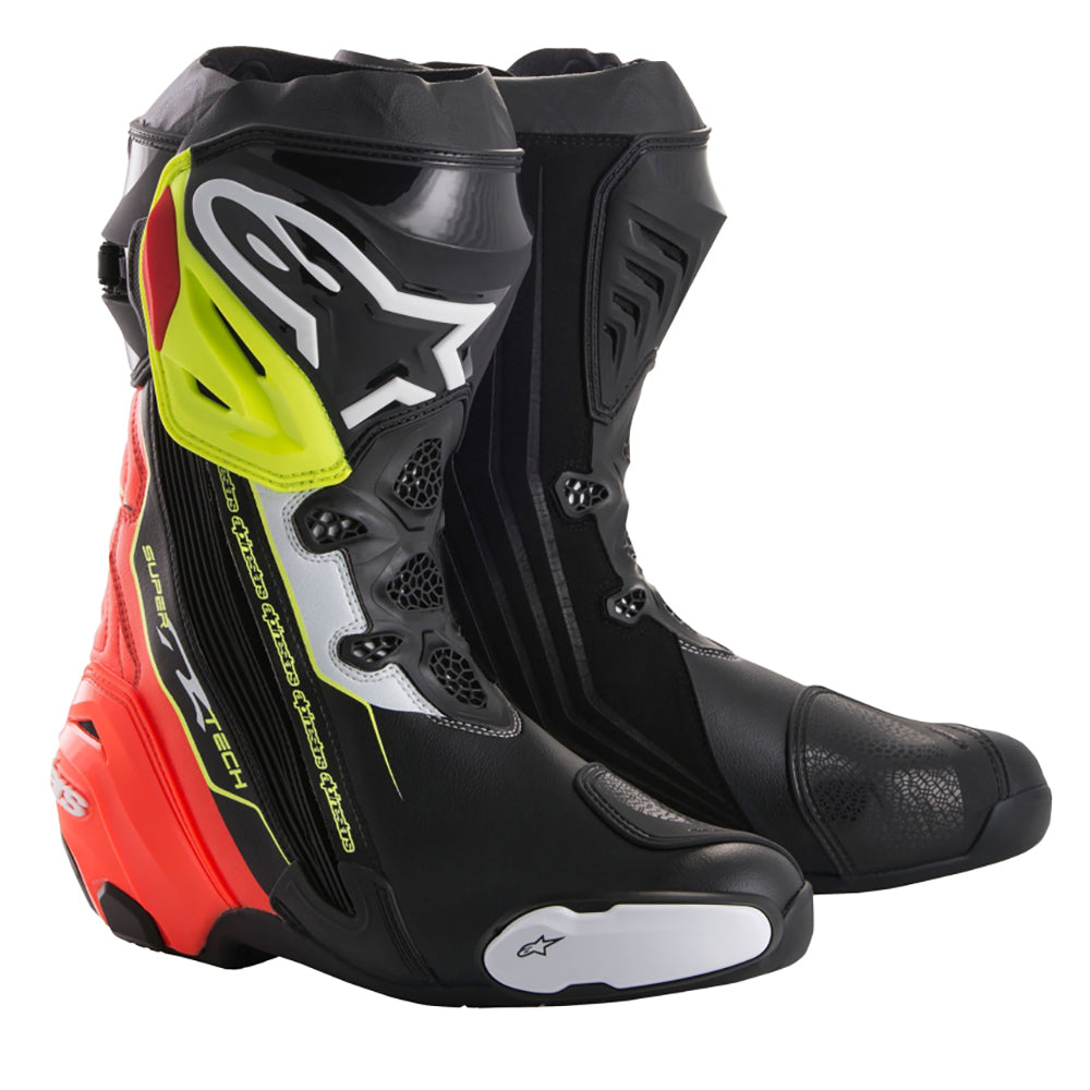 Alpinestars Supertech R Boot Black Red & Yellow Fluo