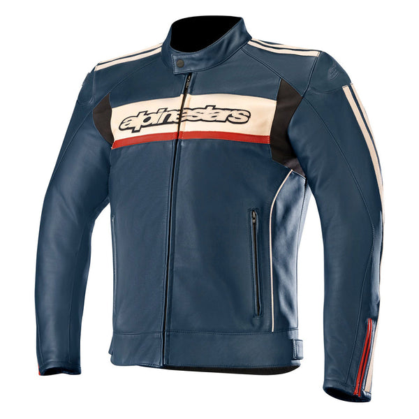 Alpinestars Dyno v2 Leather Jacket Navy