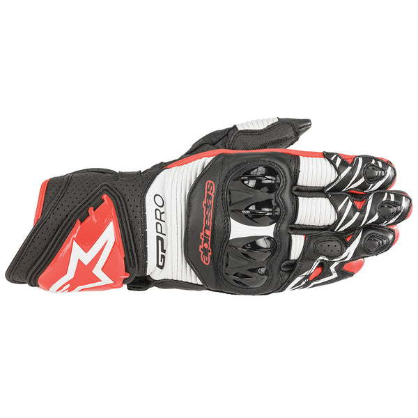 Alpinestars Gp Pro R3 Gloves Black White & Bright Red