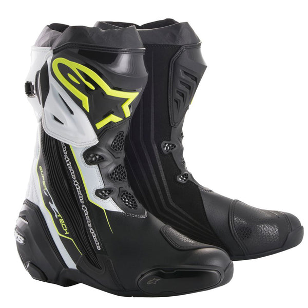 Alpinestars Supertech R Boot Black Yellow Fluo & White