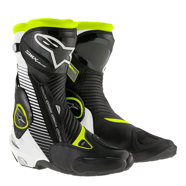 Alpinestars SMX Plus Boot Black White & Fluo