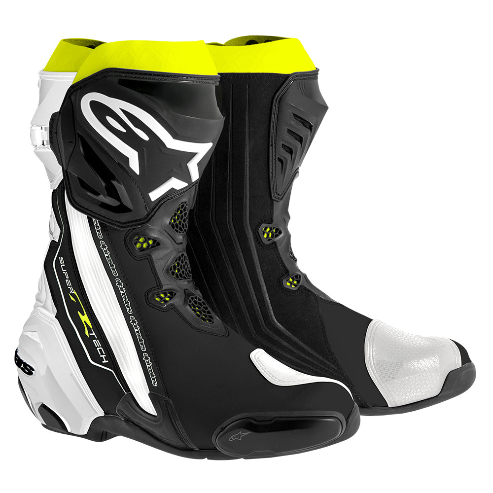 Alpinestars Supertech R Boot Black White Fluo