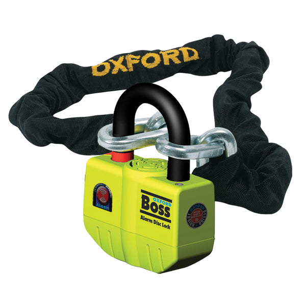 Oxford Boss Alarm Lock & Chain 12mm x 2.0m
