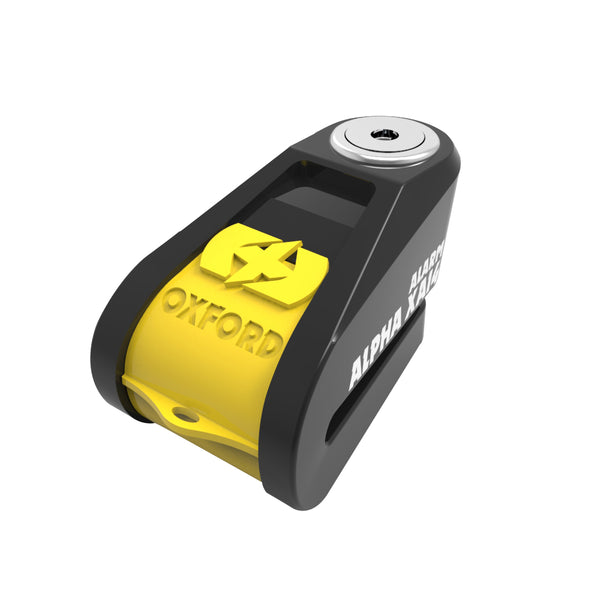 Oxford Alpha XA14 Alarm Disc Lock(14mm pin) Black/Yellow