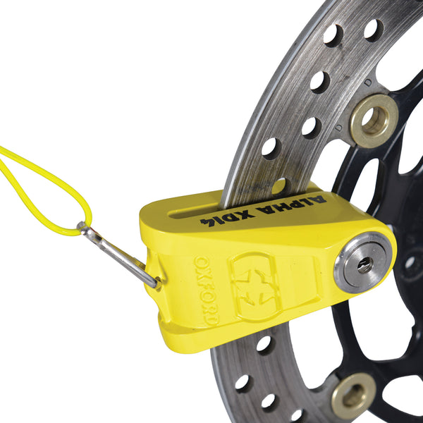 Oxford Alpha XD14 Disc Lock(14mm pin) Yellow