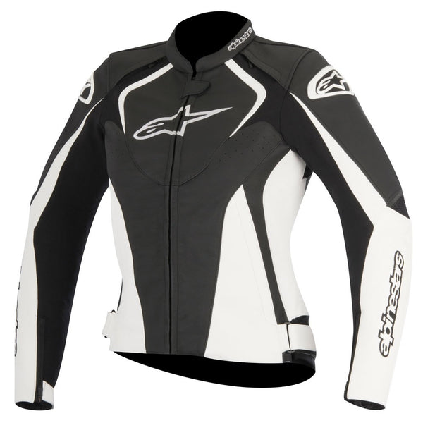 Alpinestars Stella Jaws Leather Jacket Black White