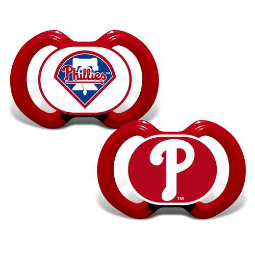 Philadelphia Phillies Pacifier 2 Pack Special Order
