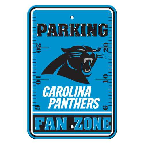 Carolina Panthers Sign 12x18 Plastic Fan Zone Parking Style Special Order