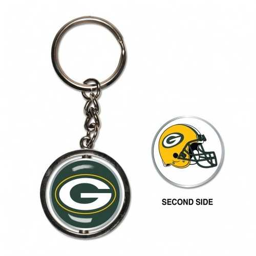 Green Bay Packers Key Ring Spinner Style Special Order