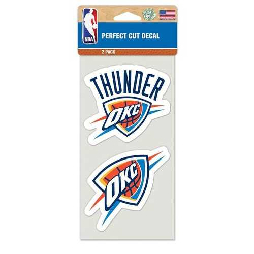 Oklahoma City Thunder Set of 2 Die Cut Decals Special Order
