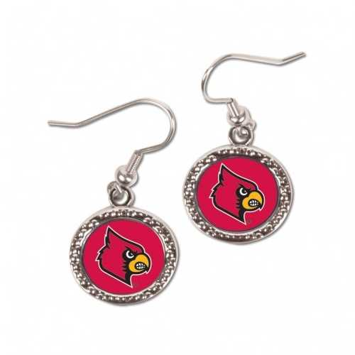 Louisville Cardinals Earrings Round Style Special Order
